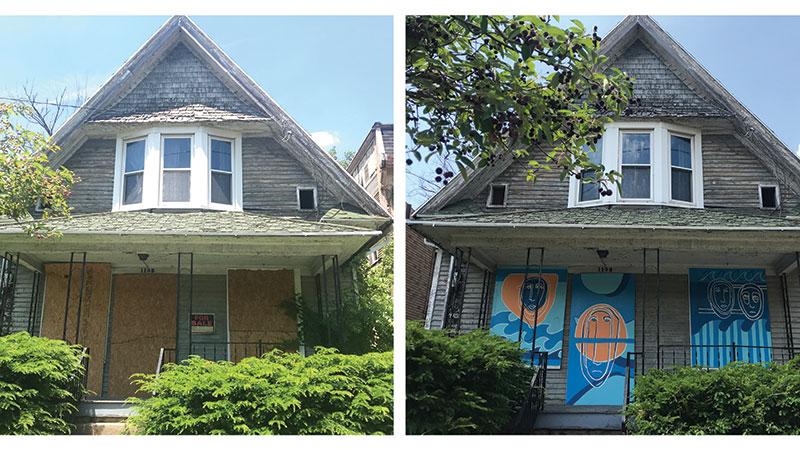 Before and after shots of 1105 N Huron property. Photo Credit: Caroline Jardine.