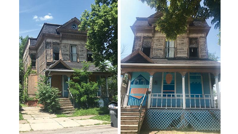 Before and after shots of 1109 N Huron property. Photo Credit: Caroline Jardine.