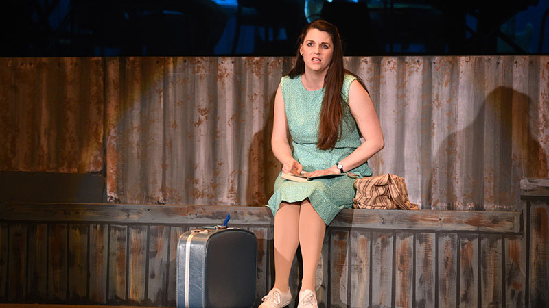 "Jamie Lynn Buechele, prepares to leave her home in North Carolina in a scene from ""Violet"" at the Croswell Opera House. Photo Credit: Vicki Schmucker for wePhoto."