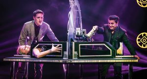 Magician Sam Strange (L) and his partner Richard Young perform as part of the Champions of Magic tour. Photo courtesy: Champions of Magic.