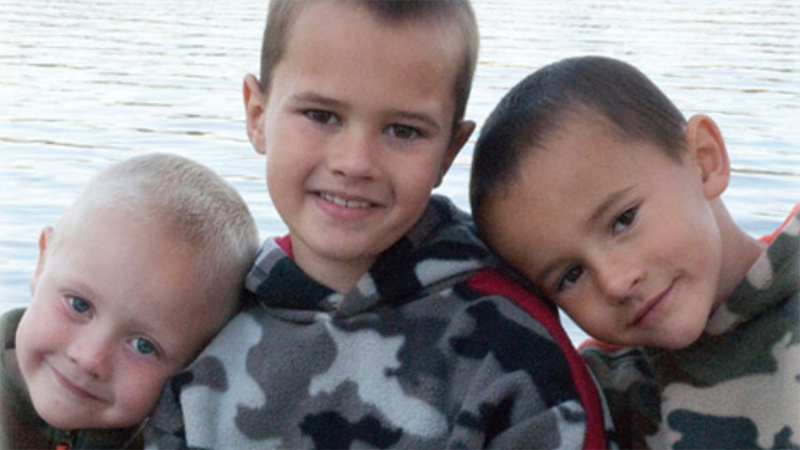 The Skelton boys, (L-R) Tanner, Andrew and Alexander.