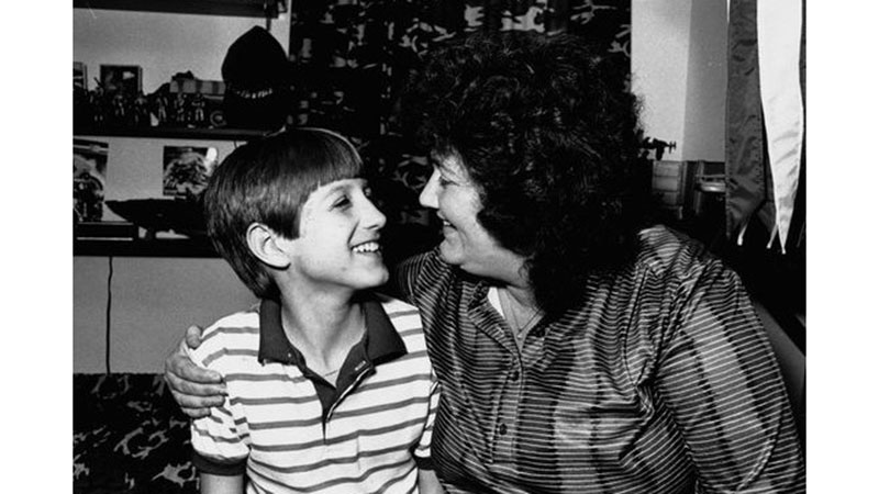 Ryan White with his mother, Jeanne White-Ginder, who will tell her son's story during a visit the Toledo Museum of Art Peristyle on Friday, November 15, as part of The Names Project AIDS Memorial Quilt Exhibit and related programming organized by the University of Toledo Medical Center Ryan White Program in collaboration with the UT Department of Art. Photo courtesy of ryanwhiteaction.org