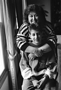 Jeanne White-Ginder with her son, Ryan White. Photo courtesy of Children's Museum of Indianapolis.