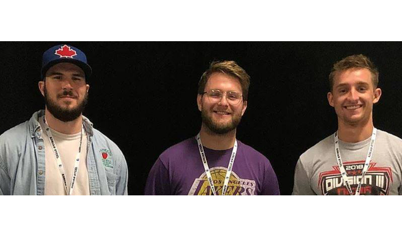 """The """"Without Wax"""" production team, (L-R) Kyle Stratton, Logan Heffner, and Brandon Milligan. Photos Courtesy of Without Wax"""