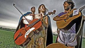Breathe Owl Breathe Trio: (L-R) Trevor Hobbs, Andrea Moreno-Beals, and Micah Middaugh. Photo by Todd Zawistowski