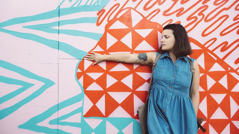 Detroit-based desert rock musician Rachele Eve. Photo by Megan Lee Miller