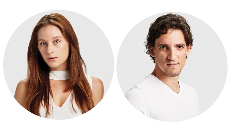 Melissa Gelfin (L) and Cervilio Miguel Amador (R)