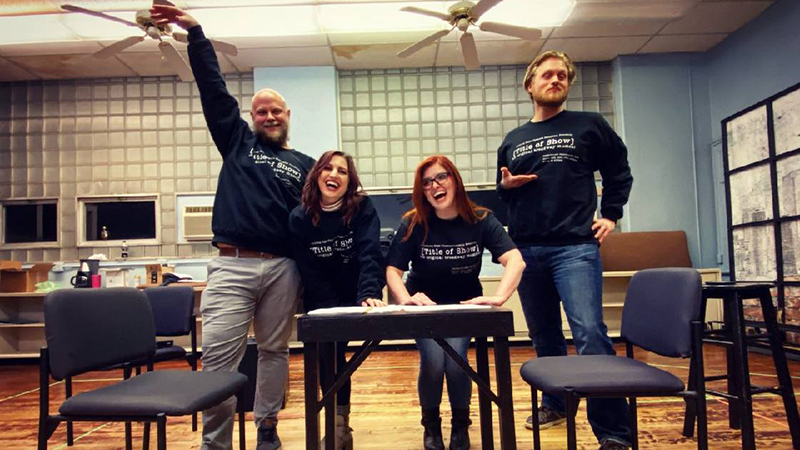 (L-R) Jon Wray, Katelyn Lesle Levering, Sarah Pettee, and Bradley King. Photo credit is Lauren DePorre!