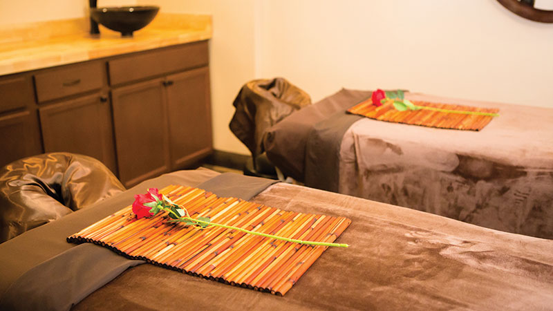 Enjoy a couples massage in the Premier Room at Serenity Health & Wellness Center.