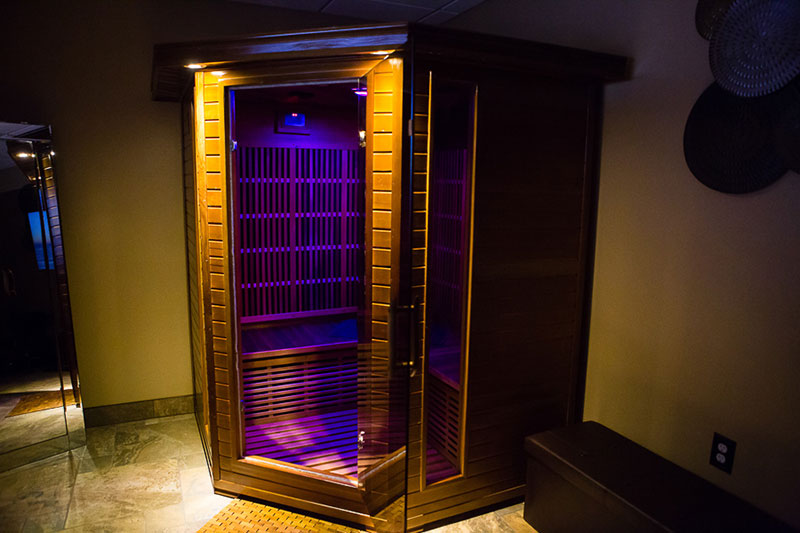The infrared sauna at Serenity Nail Salon & Spa.