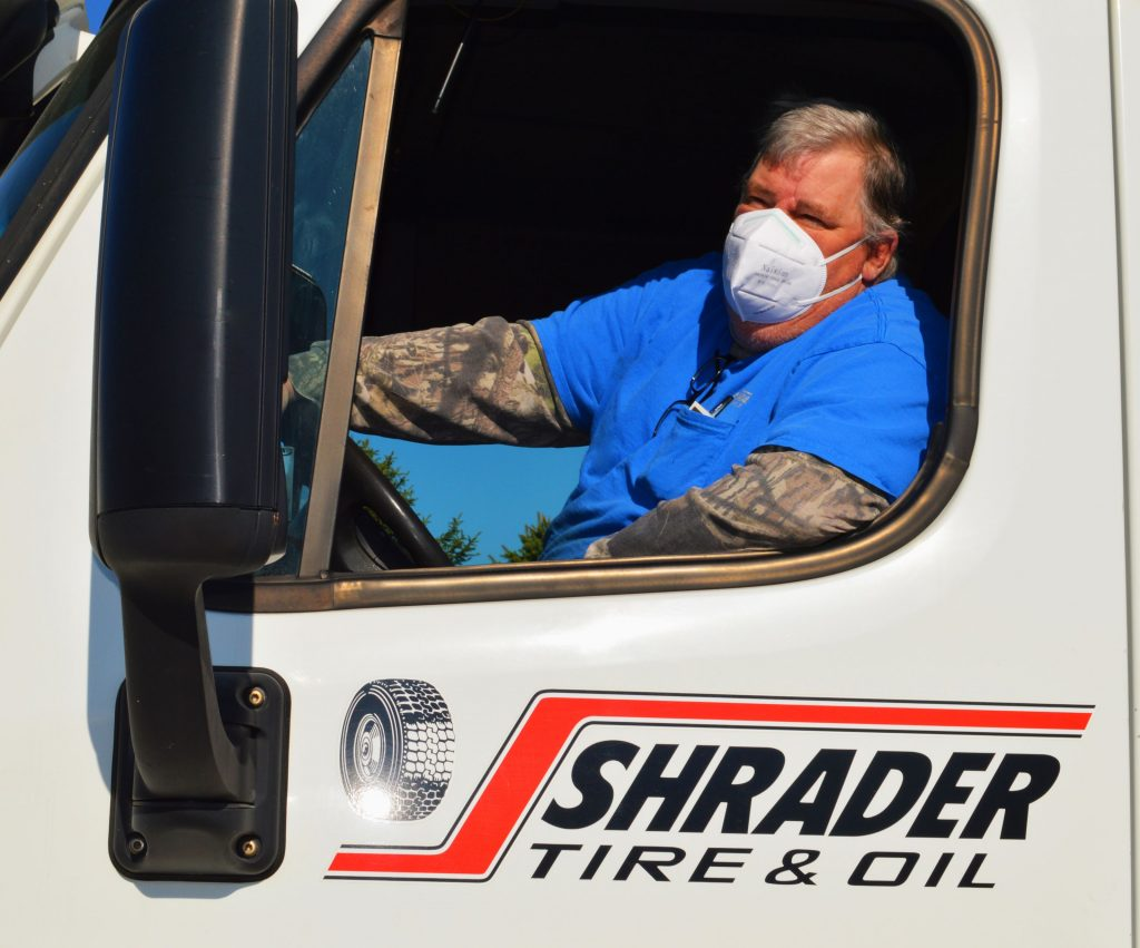 As an essential business, Shrader Tire & Oil is on the road supporting fleets of vehicles delivering much-needed goods during the COVID-19 pandemic. Hard work and sometimes hazardous conditions are just part of what our team members experience in providing extreme customer service throughout Toledo and the tri-state region.